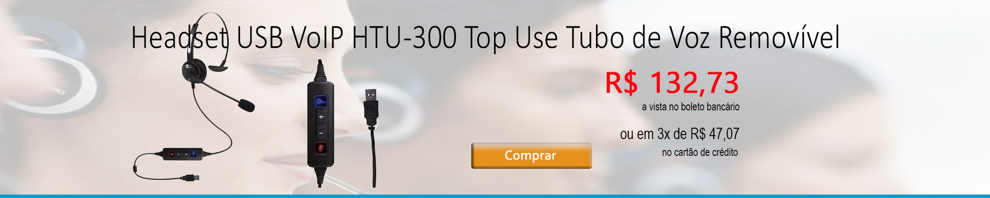 Headset VoIP USB HTU-300 Top Use